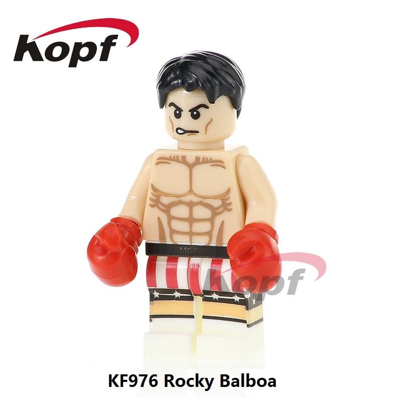 Single Sale KF976 Rocky Balboa Superwoman Hulk Hogan Felicity Smoak Super Heroes Building Blocks Collection Toys for children
