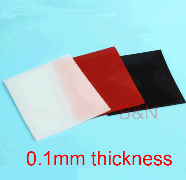 0 1mm Thickness Black Silicon Rubber Sheet Red Silicone