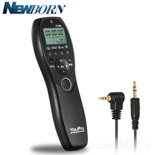 YouPro YP 880 E3 LCD Display Timer Remote Control Camera Wired Shutter Release for Canon Pentax Samsung Contax DSLR Cameras