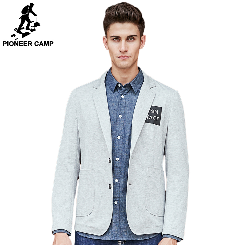 Pioneer Camp brand clothing blazer men high quality fashion casual blazer masculino slim fit designer comfort