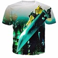 Final Fantasy VII nube T-Shirt Mujeres Hombres Harajuku 3D t shirt Pullover Fahsion Ropa camiseta de Algodón de Estilo camiseta de Verano
