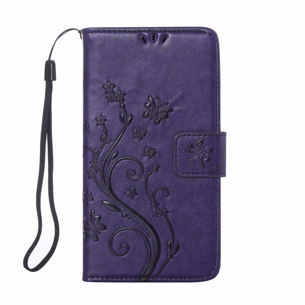 Luxury Butterfly Flower PU <font><b>Leather</b></font> + Soft Silicon Flip <font><b>Case</b></font> For <font><b>Samsung</b></font> Galaxy <font><b>S4</b></font> mini I9190 I9192 I9195 Protective Back Cover image