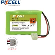 1 pièces PKCELL NiMh Téléphone Sans Fil Batterie 3.6 V 2/3AA * 3 600 mAh pour Vtech CPH 403D GE TL26145 PK 0042 P P304 CPH 403D