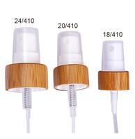 10/50/100 stks 18/410 20/410 24/410 bamboe witte druk pomp hoofd cap Spray Verstuiver/Lotion Druk Nozzle voor Cosmetische Liquid Fles