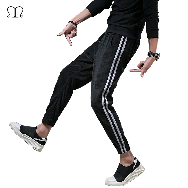 2018 New Jogger Pants Men Cotton Plaid Sweatpants Fitted High Street Sweat Pants Active Casual Striped Trousers Track Pants