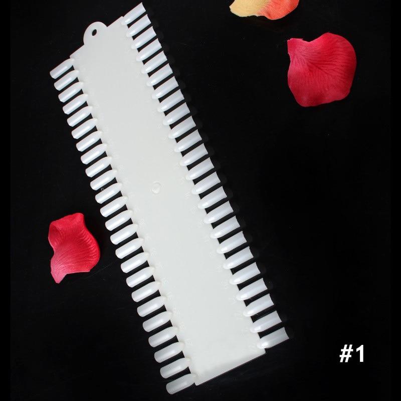 Puntas de uñas falsas Tarjeta de color Anillo de hebilla blanco - Arte de uñas - foto 3
