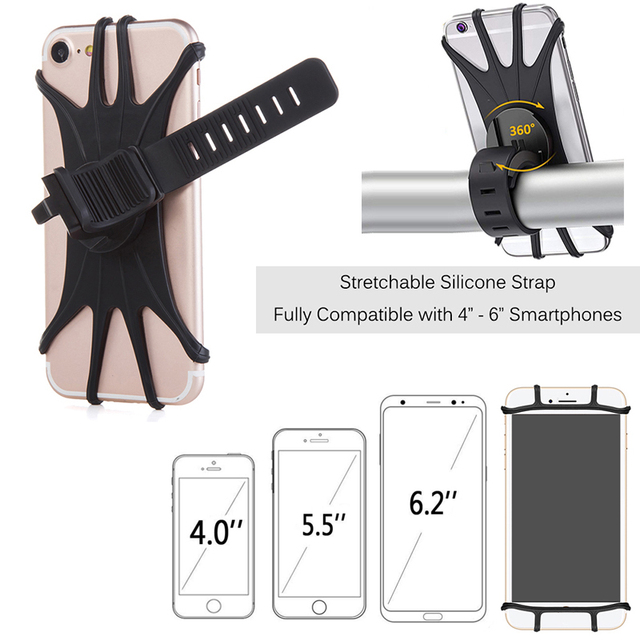 Aksesoris Pemegang Ponsel Rotatable untuk Stroller   3