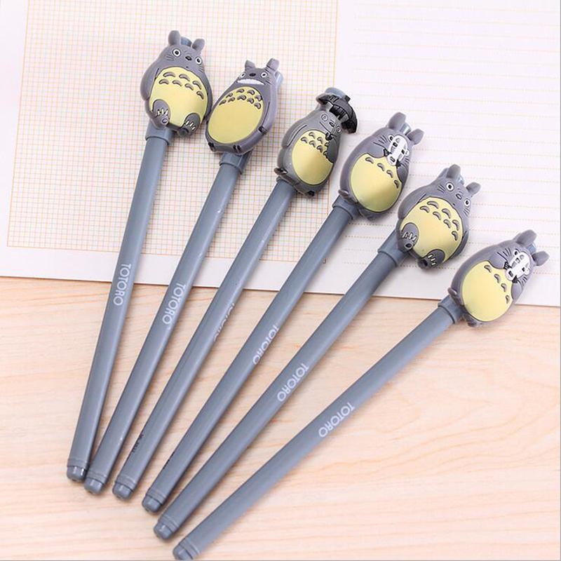 4pcs Totoro Kawaii Gel Pen School Supplies Stationery Writing Student Gifts Child Rewards