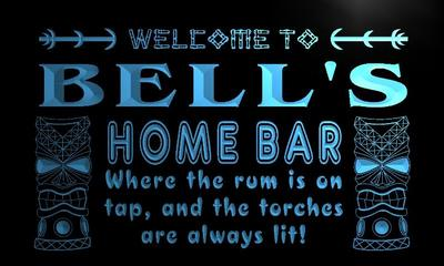 x1058-tm Bells Home Bar Tiki Custom Personalized Name Neon Sign Wholesale Dropshipping On/Off Switch 7 Colors DHL