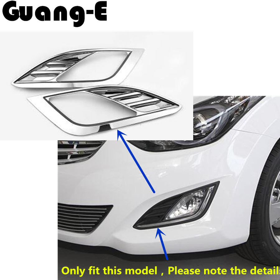 Car Styling Cover ABS Chrome Lamp Front Head Fog Light Trim Frame Moulding Hoods For Hyundai Elantra Avante 2012 2013 2014 2015