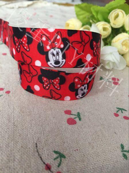 1 «25 мм Kawaii красный новый мультфильм иероглиф корсажная лента вечерние украшения высокого качества, напечатанные полиэстер ДОТП