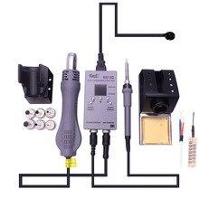 8878D цифровой двойной 2 в 1 горячий воздух для поверхностного монтажа паяльная станция Вентилятор Сварка тепловой пушкой ремонт железной инструмент против 8586