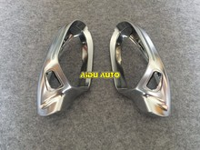 цена на High quality 1 pair For Audi A6 C7 PA Side Assist Support matt Silver chrome mirror case rearview cover shell
