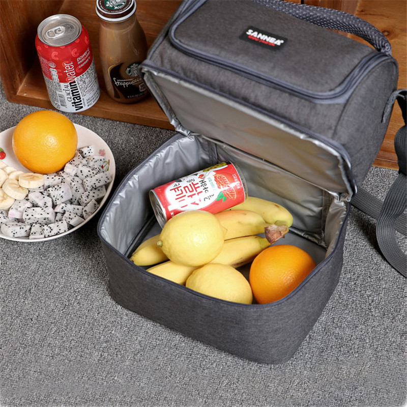 7L Oxford cloth insulation picnic bag shawl double cooler bag portable lunch keep cold storage bags foods drinking Lunching bag