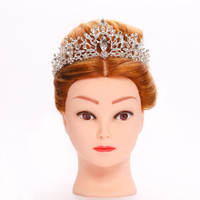 все цены на Bridal Wedding Crown Headdress Silver Baroque Crystal Rhinestone Princess Crown Hair Accessories Bridal Crown Headdress Jewelry онлайн