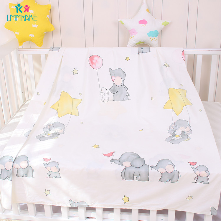 Newborns Cotton Baby Duvet Cover Grey Soft Baby Bedding Quilt Blanket Breathable Comforter Covers Cartoon kid Single Quilt Cover in Duvet Covers from Mother Kids