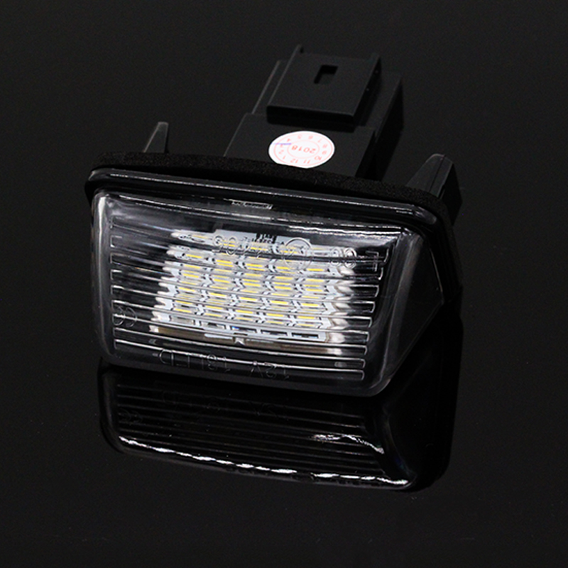 2pcs/set White 6000k Car LED License Plate Light Lamp for Citroen C3 C4 C5 Berlingo Saxo Xsara Picasso