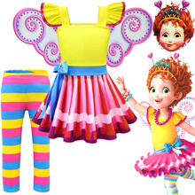 Fancy Nancy Summer Kids Rainbow Dresses for Girls Party Christmas Clothes Dress pant Baby Girl Princess Little Costume