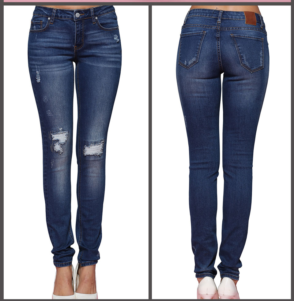 Alice-Elmer-Mulheres-Mid-Rise-Tornozelo-El-stico-Jeans-Skinny-Para-mulheres-Cal-as-Jeans-Jeans