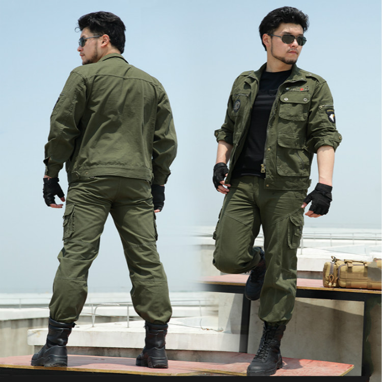Outdoor Men's Army Fans Hiking Hunting Clothing Military 101 Airborne Division Outfit Suit Uniforms Tactical Sets Jacket+pants outdoor angel army fans military clothing camouflage suit wear cotton uniforms work service tactical training set jacket pants