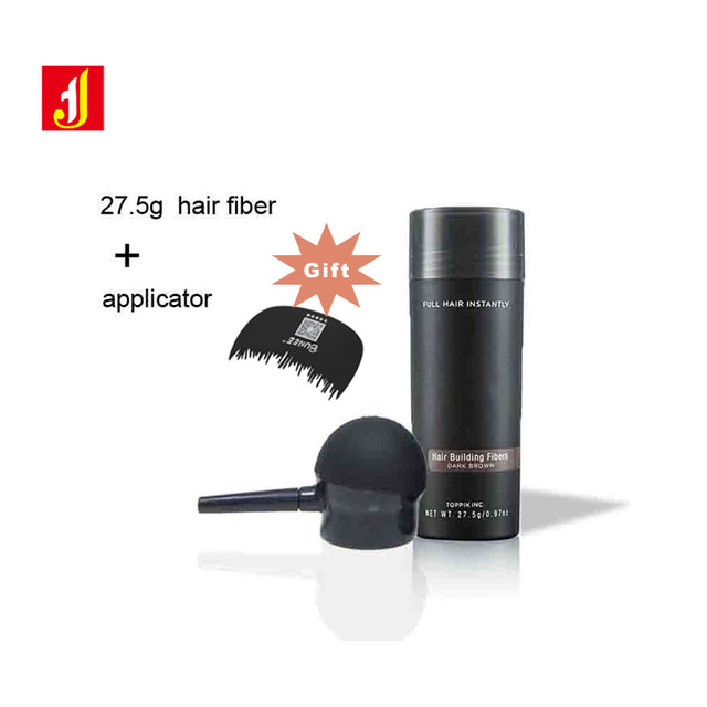 2019 New Hair Building Fiber +Applicator+ comb Natural Keratin Top pik Hair Loss Treatment Care  Best Selling