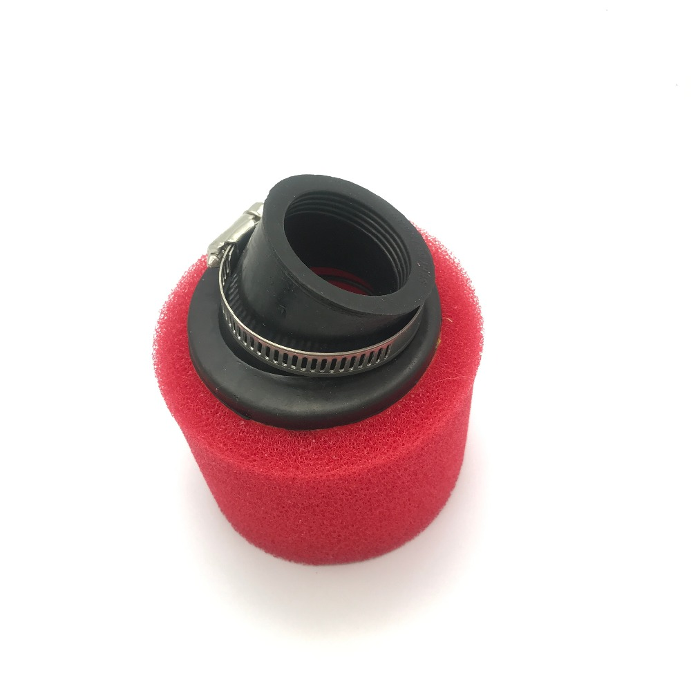 Intellective New 35mm Red Air Filter Bent Foam Cleaner For 50cc 70cc 90cc 110cc Atv Dirt Pit Bike Delicious In Taste Atv,rv,boat & Other Vehicle