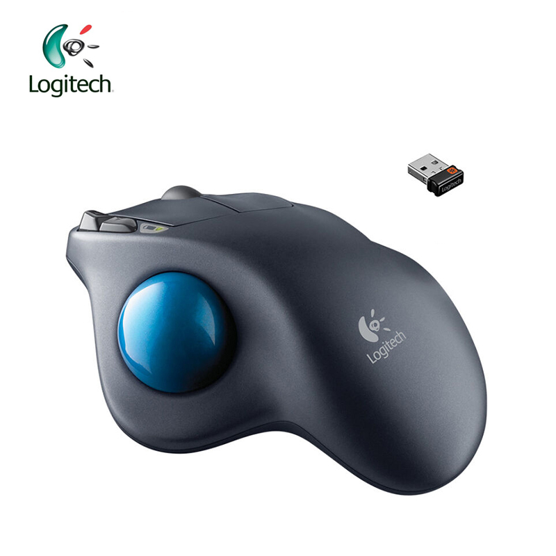 Logitech M570 2.4G Wireless Gaming Mouse Optical Trackball Ergonomic Mouse Gamer for Windows 10/8/7 Mac OS Support Official Test logitech g pro gamer gaming mouse 12000dpi rgb wired mouse official genuine usb gaming mice for windows 10 8 7