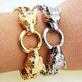 New Fashion Classic Wolf Head Bracelet Men Jewelry Top Quality Popular Knighthood Charm Stainless Steel Bracelet