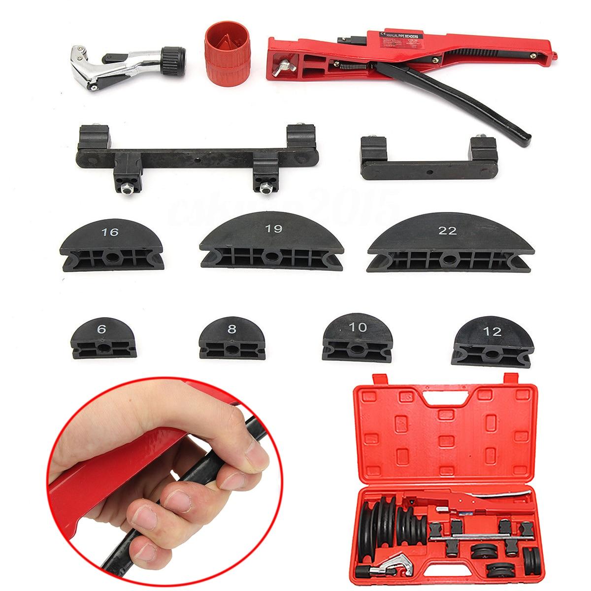 Mayitr Handheld Copper Pipe Bending Tool Kit Manual Steel Tubing Bender 6 8 10 12 16 19 22mm