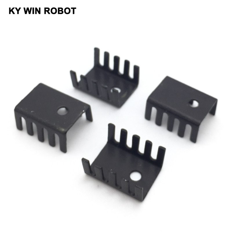 10PCS black 15*10*20MM Triode Heat Sink 10*15*20MM TO-220 TO220 Transistor Aluminum Radiator Heat Sink Cooler Cooling 20*15*10MM