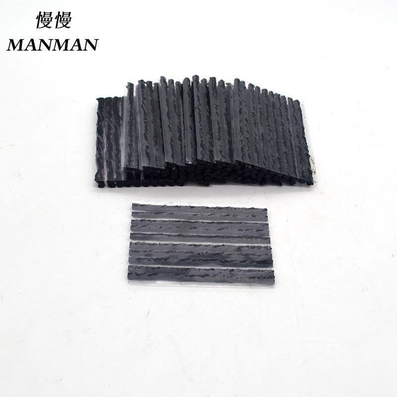 100pcs 4mm 100mm  Tyre Repairing Rubber Strips Tire Repair Tools rubber strips tyre repair