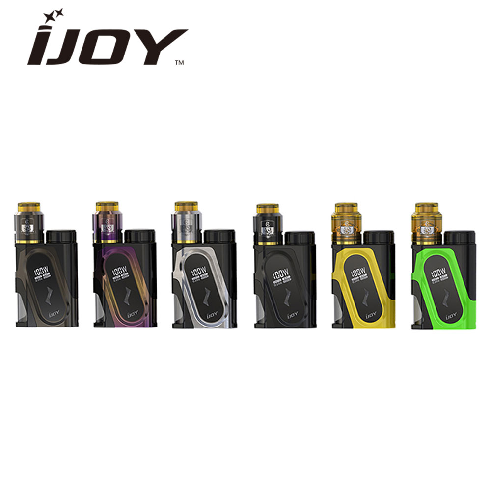 Original IJOY CAPO 100W 20700 Squonker Kit with CAPO Squonker MOD & COMBO RDA Triangle & 9ml Squonk Bottle No Battery Vaping Kit ivy queen orange full buttons mod kit for ps4 playstation 4 controller r2 l2 trigger with symbol triangle circle square x button