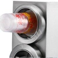 Pappbecher Spender Edelstahl Plastikbecher halter mit 4 löcher Kaffee/Cola Cup halter