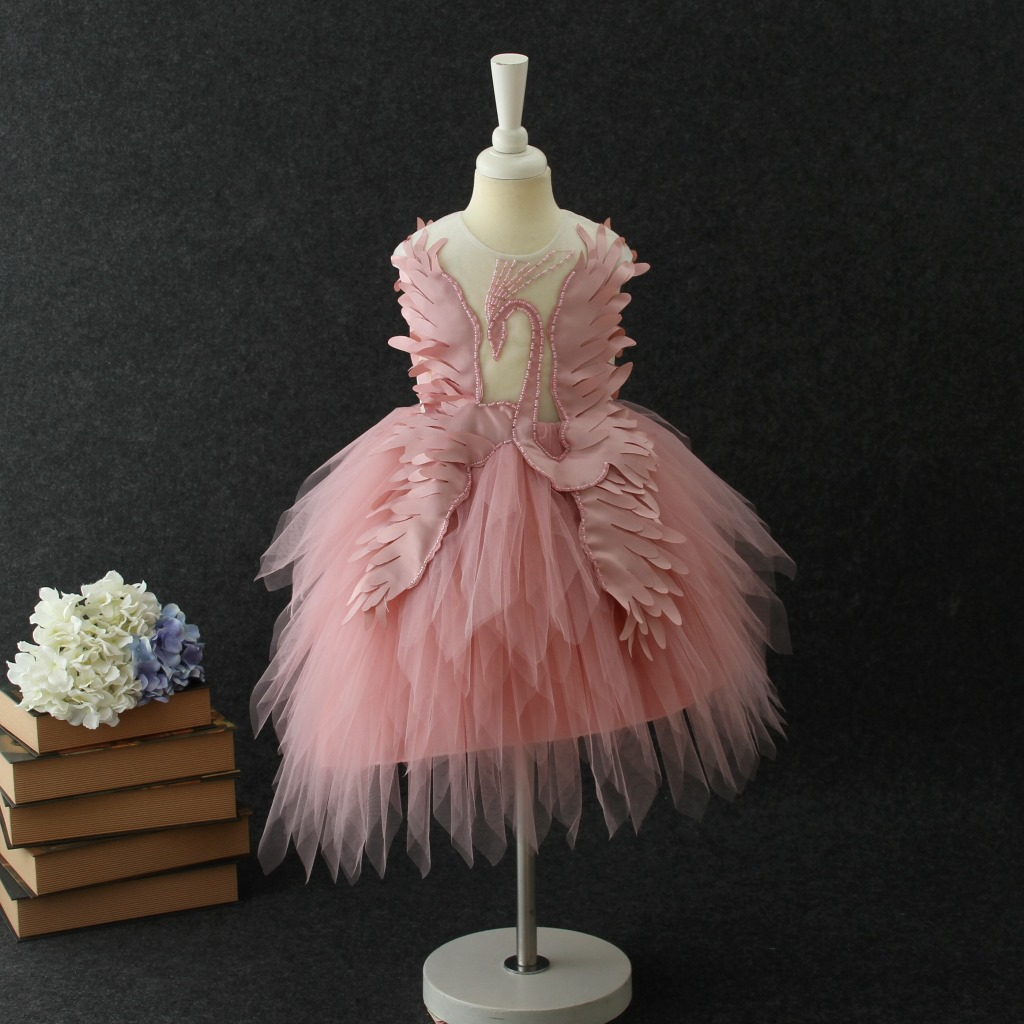 5640 Swan 3D Embroidery Princess Brithday Wedding Party Baby Girls Dress A-line Kids Dresses Wholesale Children Clothing 5P Lot5640 Swan 3D Embroidery Princess Brithday Wedding Party Baby Girls Dress A-line Kids Dresses Wholesale Children Clothing 5P Lot