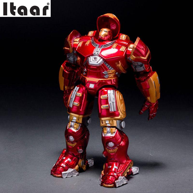 Marvel Avengers Ultron Iron Man Buster Hulk Buster Collection Model Toys ABS Red ABS Action Figure