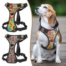 Coleira para cachorro sem puxar, coleira de peitoral de náilon refletiva k9, coleira para cães pequenos, médios e grandes, ajustável s XL