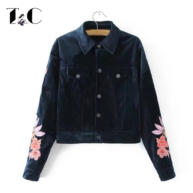 choose new style Womens Winter Jackets UK Outlet Global Colours Black  Embroidered #Fy2m[mb Shrug