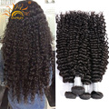 Deep Wave Tight Curly Brazilian Virgin Hair Extension 8A Unprocessed Human hair Weave Free Shipping modernshow kinky curly hair