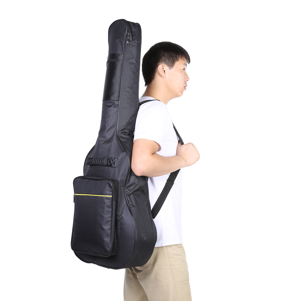 Black Guitar carrying bag Waterproof Two front pockets Adjustable Shoulder Straps Protective Classical Acoustic Guitar Bag Cover two way regulating lever acoustic classical electric guitar neck truss rod adjustment core guitar parts