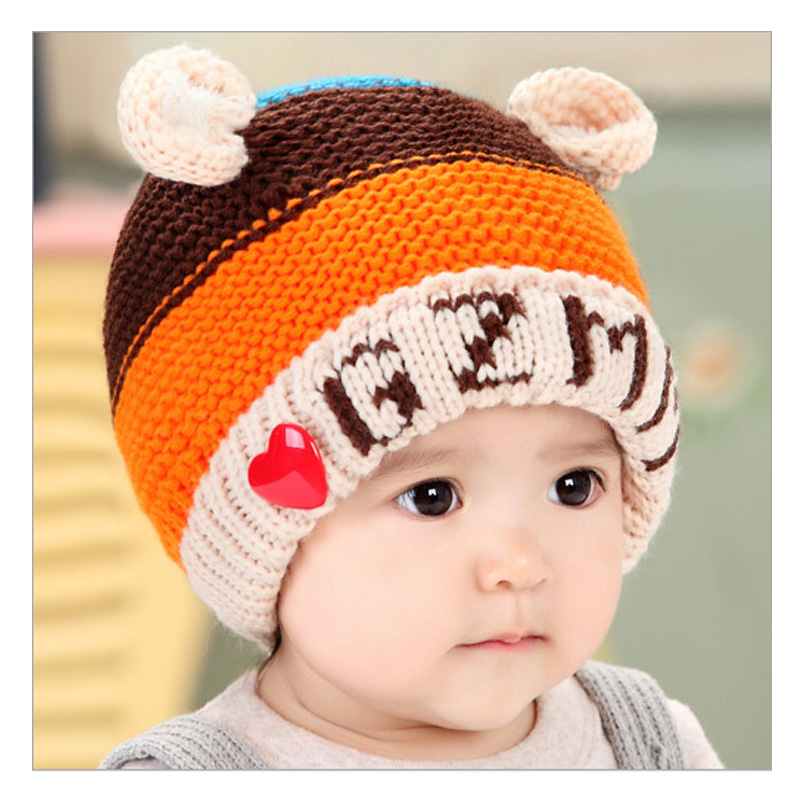 Winter ear muff hat crochet baby hat for children Girls Boys Headband Acrylic Hats Knitted baby cap All For Children's Clothing