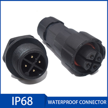 1Pc Waterproof Connector Aviation Plug Socket 2/3/4/5/6/7/8/9/10/11/12 Pin IP68 Industrial Electrical Connectors for Outdoor Use szjelen connector 8 pin fgg 2b 308 clad egg 2b 308 8 pin medical connectors electrical and electronic power plug and socket
