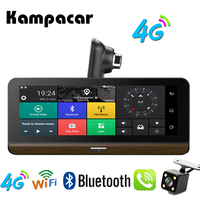 Kampacar 8.0 Inch Android Smart Rearview Mirror Camera 4G GPS Navigation Dvrs With Two Lens Dual Dash Camera Wifi Video Recorder