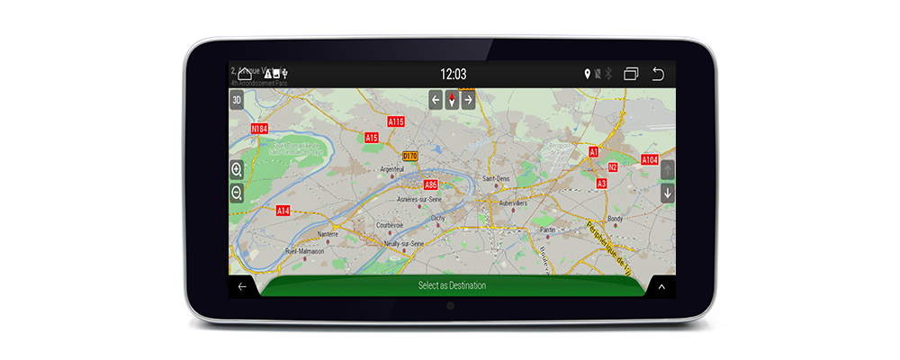 Android 7.0 up Car Multimedia player For  WiFi GPS Navi Map Stereo Bluetooth 1080p IPS Screen8