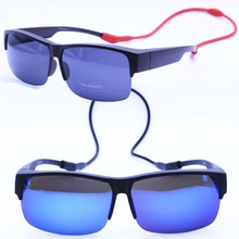 Myopia 033 UV400 polarized anti-slip outdoor half-rim fit over handy neck hanging fishing s