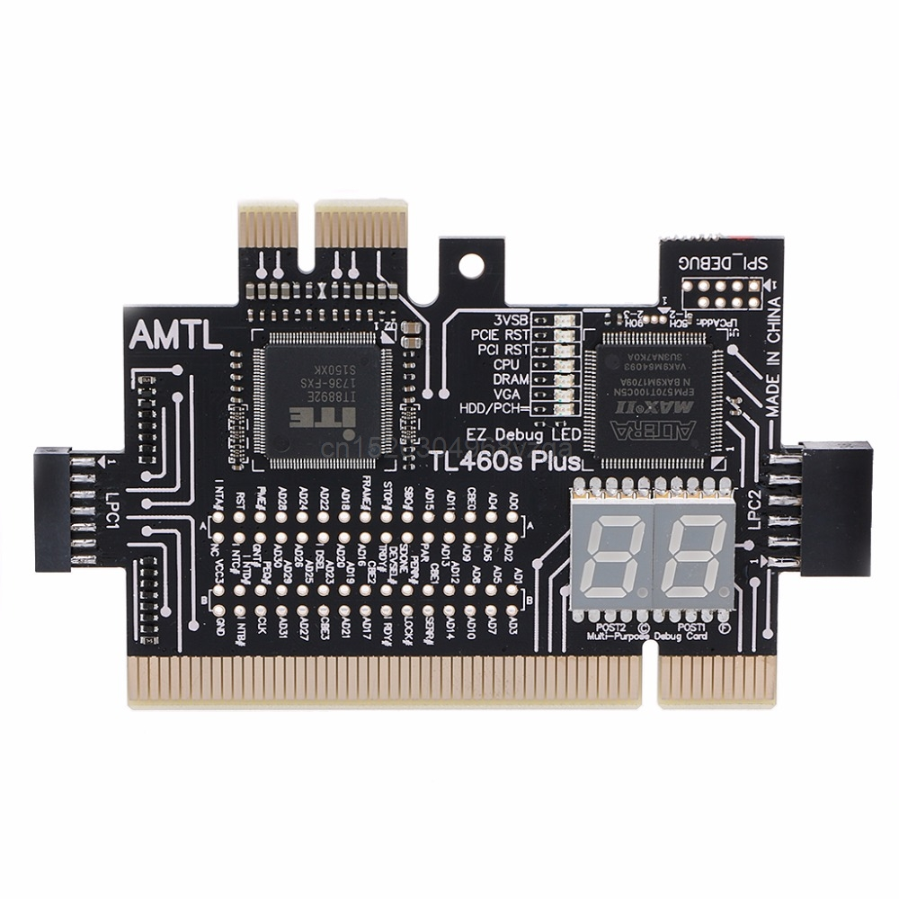 LPC-DEBUG Analyzer Diagnóstico Cartão PCI PCI-E LPC-Kit Placa De Diagnóstico Teste de Depuração Pós Cartão J04 dropshipping