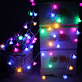 Bright 8M 50 led String lights AA Battery Operated Rose floral Fairy lights for Christmas Wedding room Garland Party decorations