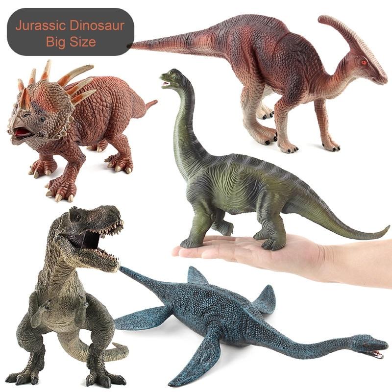 Lost World Jurassic Park Tyrannosaurus Rex Dinosaur Model Toys for Childrens Big Size Emulation Dinosaurs Toy for Boys Xmas Gift cool big dinosaur model toys vivid animal pvc figures tyrannosaurus rex triceratops allosaurus strong powerful animals boys gift