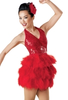 Latin Dance Performance Costumes Children Dance Wear New Sequin Stage Costumes Feather Accessories