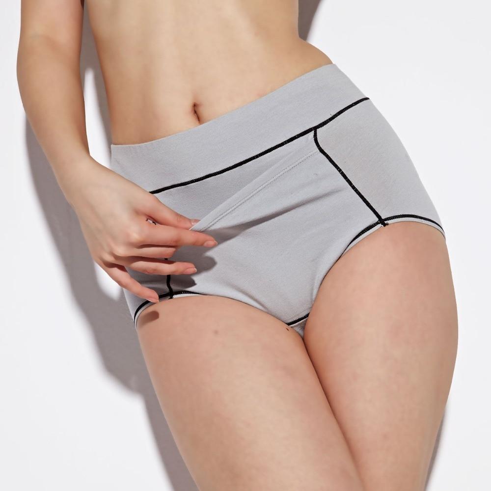 QA061 Safe leakproof physiological underwear women comfortable cotton high waist panties female briefs