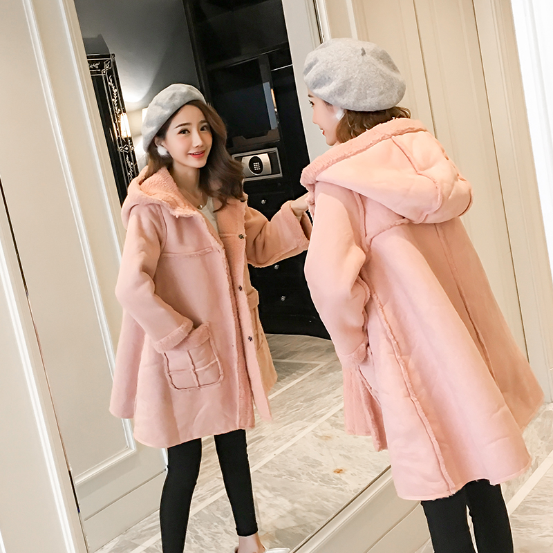 Pregnant women new winter loose thin lacquered lips woolen jacket in the long section plus velvet thick hooded maternity dress seroprevalence of hiv infection in pregnant women in amassoma nigeria